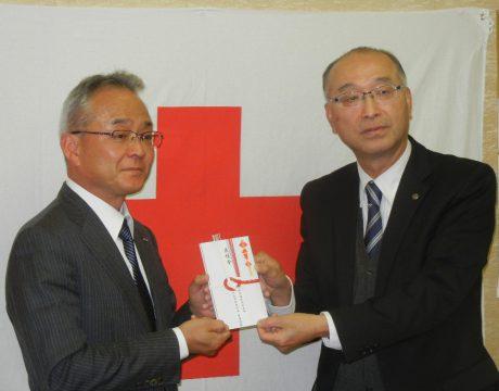 澤田社長(左)、藤井事務局長
