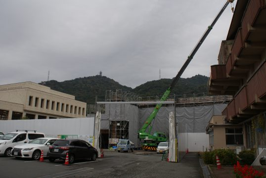 小郡地域交流センターの建設現場