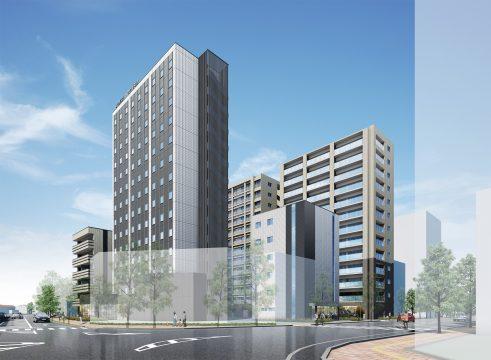 再開発後の新山口駅北地区イメージ図